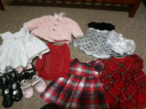 Babygirl dresses and shoes 0-6