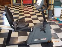 Johnson recumbent exercise bike with heart rate monitor