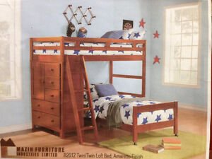 High Quality Wooden Loft Bunk Bed