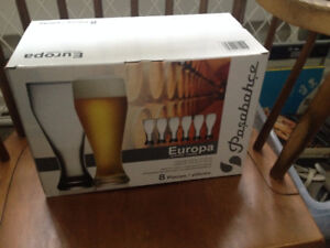 Set of 8 Pasabahce Europa Glasses