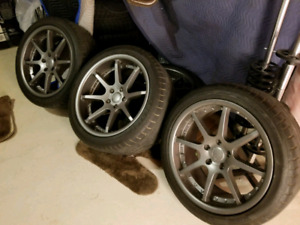 MINT Staggered BC Forged Wheels with Dunlop SP Sport 01 Tires