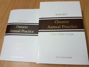 LAW BOOKS - Ontario Annual Practice 2016-2017 (includes CD)