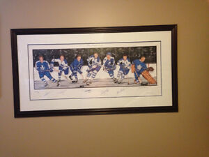 Collection of Autographed Jerseys, Stick And Lithograph(4 items)