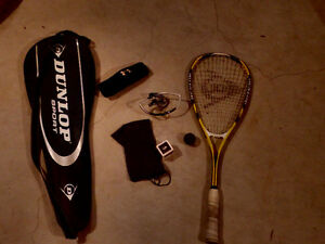 Dunlop Squash Racquet and Equipment