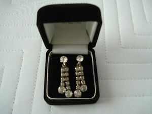 Vintage Rhinestone Earrings Kitchener / Waterloo Kitchener Area image 1