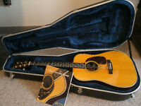 1991 MARTIN CUSTOM 15 ACOUSTIC ELECTRIC GUITAR W/ CASE