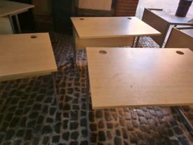 Maple office desks 120 cm x 80 cm (500 available)
