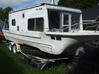 Yukon Delta houseboat(project) $2000 FIRM    and 3 fishing boats
