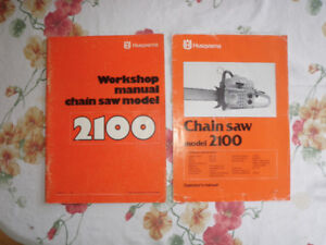 2100CD Husqvarna Factory workshop and operator's manuals