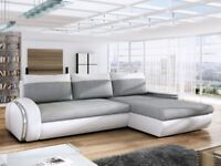Corner Sofa Bed EGO Grey Right Special Offer!