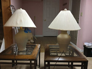 Pair of Table lamps $15. each or pair for $25.