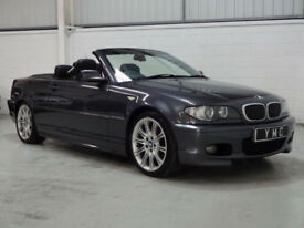 2006 BMW 320 DIESEL CABRIOLET M SPORT ** NEW MOT, F/S/HISTORY, LEATHER, 90K **