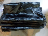 Wedding - Black satin table runners & chair sashes for sale