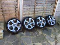 """Genuine 17"""" Fiesta St Alloy Wheels With Good Tyres BARGAIN £450!!!"""