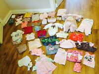 Baby girl bundle clothes, 0-3, over 100 items