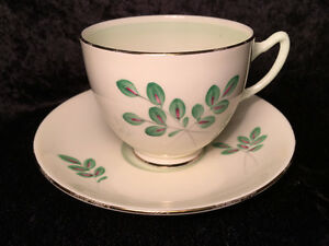 Adderley Green Leaf Tea / Coffee Cup and Saucer Special edition