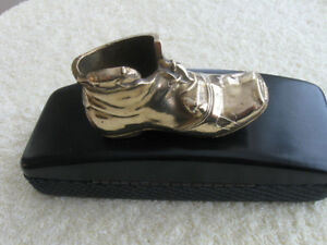 ANTIQUE SOLID BRASS LEPRECHAUN BOOT from the BRITISH ISLES