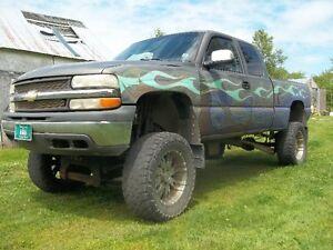 Lifted 1999 Chevrolet Silverado 1500 Pickup Truck