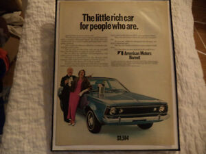 OLD AMC CLASSIC CAR FRAMED ADS Windsor Region Ontario image 3