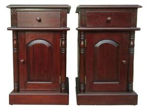 Antique Bedside Table Pairs