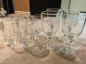 Ten Large Drinking Glasses - Excellent Condition