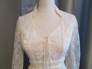 Antique ivory wedding gown