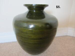 $5. Forest Green Vase
