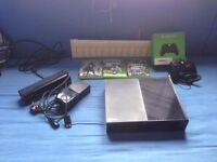 Selling Xbox one mint comes with 3 games Kinect and extra controller