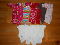 Lot of Girls Size 3mth Clothes