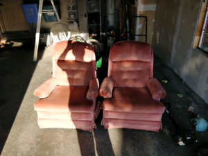 Two lazy boy style chairs
