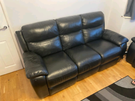 2 and 3 seater electric recliner sofa real leather