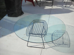 Round glass tabel top