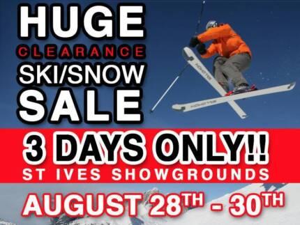 HUGE SKI SALE 30-70% off! Ski Gear/Wear -  ST. Ives Showground Belrose Warringah Area Preview