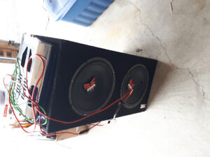 Subwoofer and amp free! Great condition
