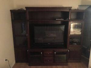 Good quality entertainment unit - solid wood