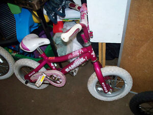 "GIRLS 12"" SPEED BIKE,AIR W.STROLLER, MGP PARK SCOOTER,+"