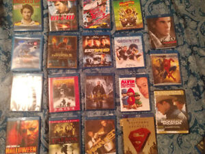 BLURAY DVDS- GREAT CONDITION / COMEDY, HORROR, DRAMA, ANIMATED