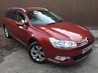 2009 CITROEN C5 EXCLUSIVE 2.0HDI 140BHP 6SPEED SPORTS SUSPENSION HALF LEATHER