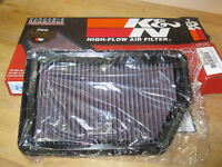 K&N AIR FILTER ORIGINAL BOX.NEW WIPERS IN ORIGINAL BOXS