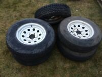 Tires and Rims for Utility Trailer