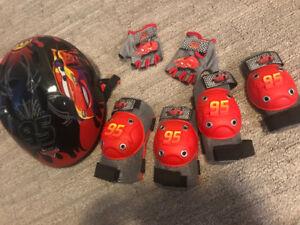 Lightning McQueen Helmet and Protective Gears