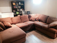 Extremely comfortable large sectional couch