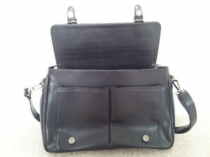 Pierre Cardin Black Leather Business Bag London Ontario image 3