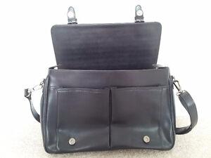 Pierre Cardin Black Leather Business Bag London Ontario image 3