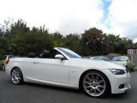 BMW 320 2.0 M Sport CONVERTIBLE LEATHER 58 PLATE WHITE FULL HISTORY