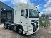 DAF XF 105.460 6x2 MID LIFT TRACTOR UNIT WITH PTO, HYDRAULICS