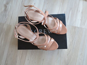 J Crew Leather Strappy Sandals