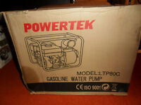 new gas powered water pump