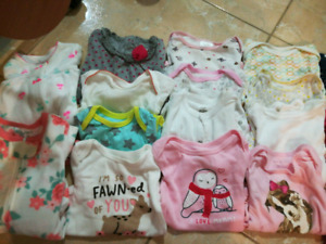 HUGE 0-3 lot fall/winter brand name baby girl clothes