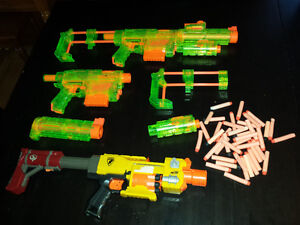 Three Nerf Shooters